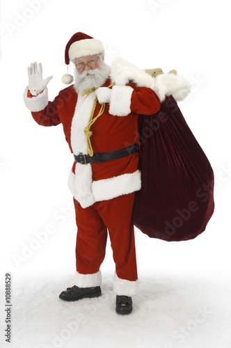 Full Santa Waving