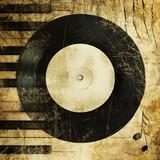 Fototapety music grunge