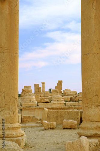 columns in ancient Palmyra, Syria