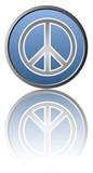 Peace symbol - White background poster