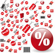 biggest Set of red price tags in vector design