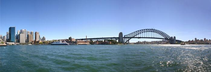 Sydney Australia harbour bridge panorama