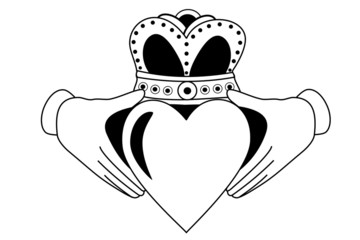 Claddagh tribal tattoo