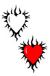 A Flaming heart tribal tattoo