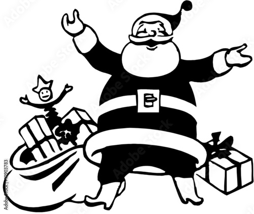 quot pere noel en noir et blanc quot stock image and royalty free vector files on fotolia pic 10903783
