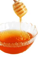 Detail of flowing honey