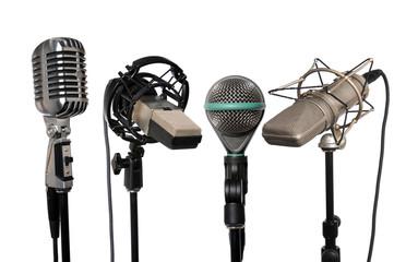 Microphones Aligned