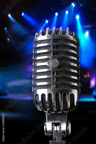 Vintage Microphone in Close-Up View - 10909557