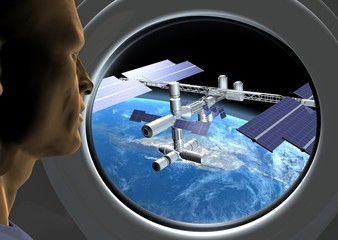 observation station spatiale orbitale ISS