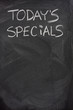 today's specials text on blackboard