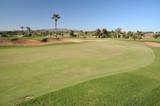 Golf course in Marrakech, Morocco poster