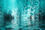 Surreal Soothing Abstract Waterfall View poster