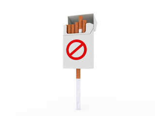 Open pack of cigarettes. Stop smoking!