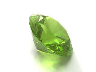 Peridot or chysolite gem