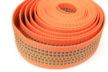 material belt isolated on white