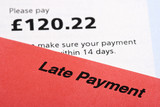 Late Payment Bill Statements poster