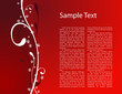 Beautiful simply red christmas card with place for text