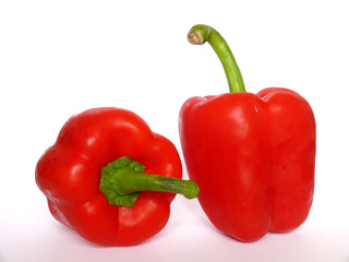 Two red peppers