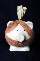 Piggy Bank With Bandages