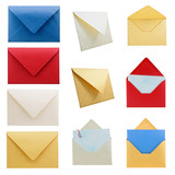 Stationery collection 1, envelopes. poster