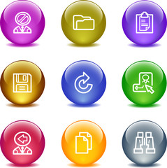 Color glass ball web icons, set 3