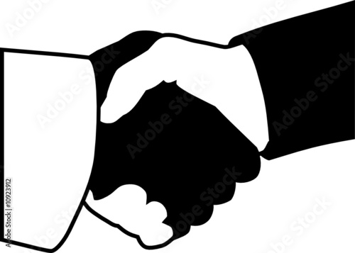 Handshake icon (Black / White)