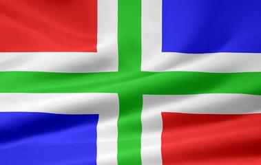 Flagge von Groningen - Niederlande