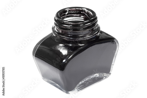 jar of black ink