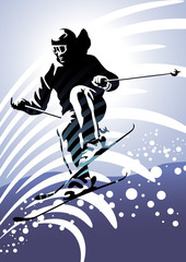 Winter sport: downhill skiing