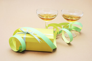 Wine Glasses and Gift Box