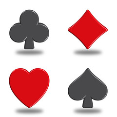 illustration icons or buttons of the four signs poker