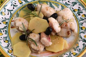 Coda di rospo alle olive - Secondi di pesce - Ricette Veneto
