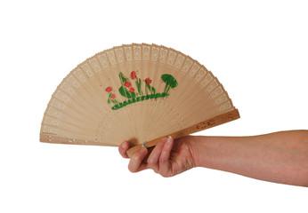 Holding Asian Fan