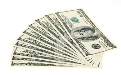 Dollar set isolated