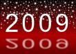 2009 new year with stars illustration