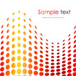 Red halftone background. Vector illustration