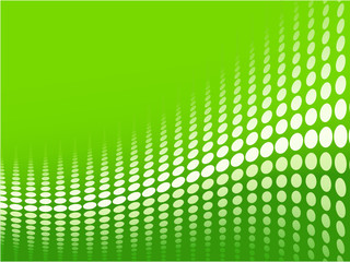 Green halftone background