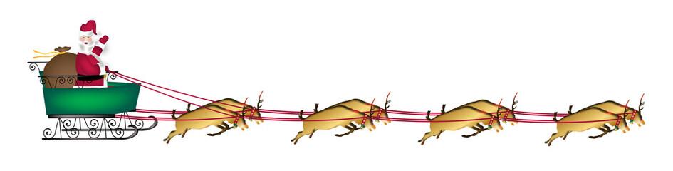 Santa and Reindeer Banner
