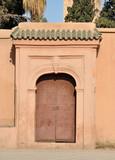 Closed door in Marrakech, Morocco poster