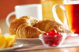 Fototapety Fresh French croissant for breakfast