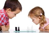 Fototapety Kids playing chess