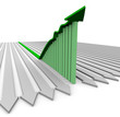 Green Growth Arrow - Bar Graph