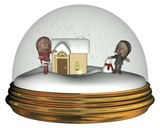 Christmas Elves in a Snowglobe poster