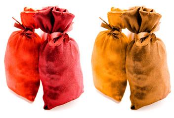 Beautiful multi-coloured sacks