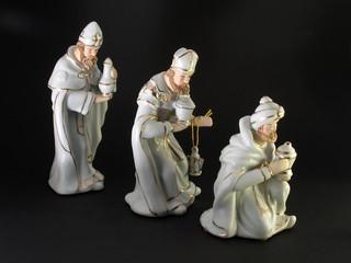 Die heiligen 3 Könige auf dem Weg zur Krippe