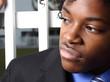 Tough young businessman