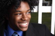 African American teen smiling