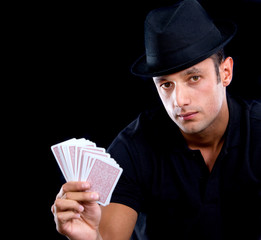 Magician with cards