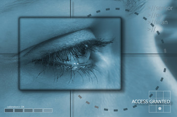 Eye tech background