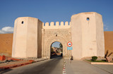 Gate into the old town of Marrakech, Morocco poster